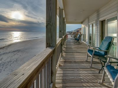 Photo for Sea Y'all: a popular, dog-friendly, beachfront home w/spacious deck, oceanfront