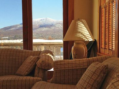 Relax on the couch and enjoy the spectacular views.