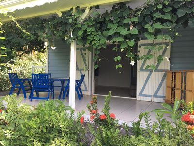 Photo for in a tropical garden charming secure accommodation near the sea