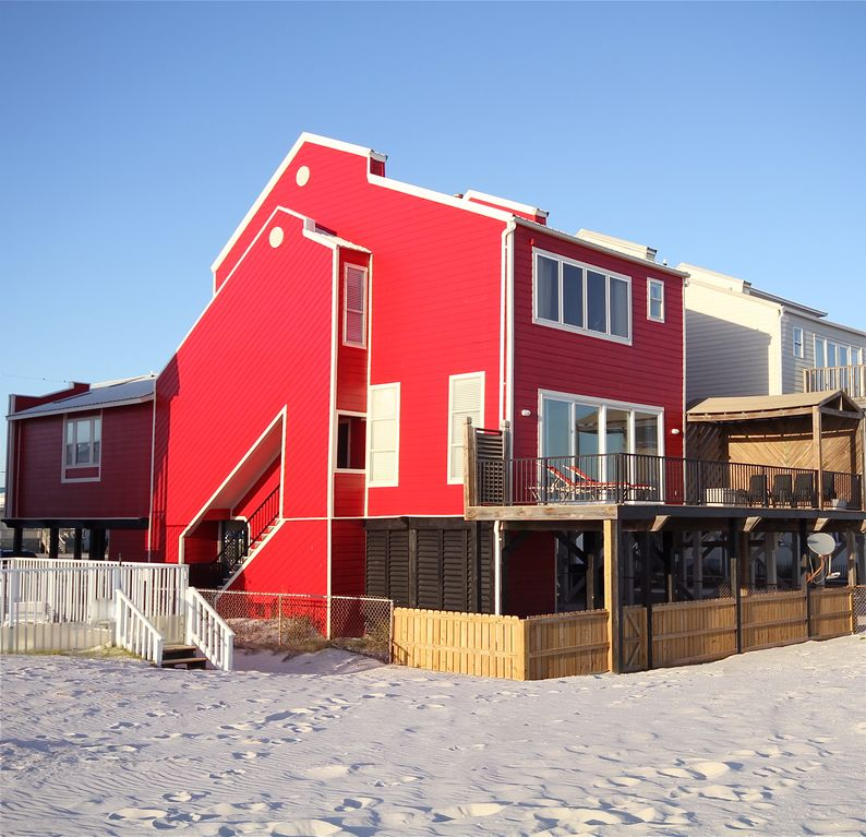 Gulf Shores Beach House Rentals By Owner: 4 Bedroom Beach Front Home