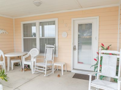 Photo for One Bedroom Family-friendly Condo Steps from the Beach