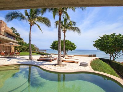 Photo for Spectacular 7 Bedroom Beachfront Estate in Punta Mita