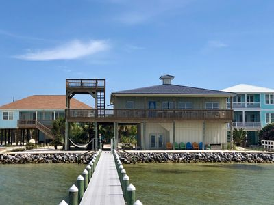 105' waterfront property with private beach & dock
