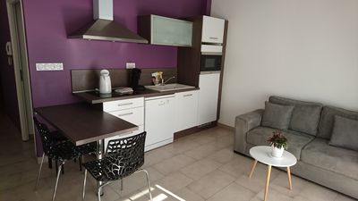 Photo for Recent furnished apartment, south facing balcony and garage - 35 min from Annecy (102)