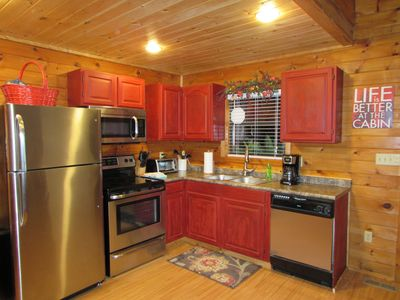 Photo for Cabin in the Smokies-Great cabin  King Bed HotTub Fireplace.