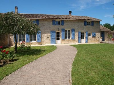 Photo for Beautiful French Stone House with Private pool