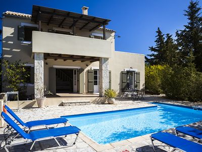 Photo for 3 bedroom Villa, sleeps 6 in Khalikerí with Pool, Air Con and WiFi