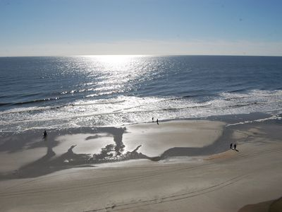 Photo for Oceanfront Corner Unit with sweeping views of beach and ocean!