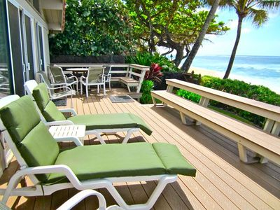 Photo for Sunset *Beach Front* Hale Kalea - Beach Bikes! Complies w/ new city rental rqmt.