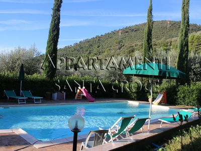 Photo for Nicciano, spacious apartment with valley and pool view