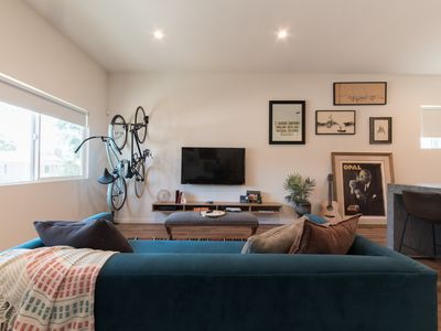 Photo for Modern 2 bedroom Home with Cruiser bikes and paddle boards