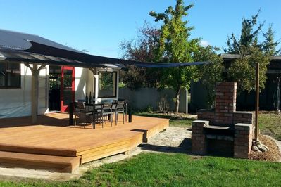 back yard and deck area for summer relaxing