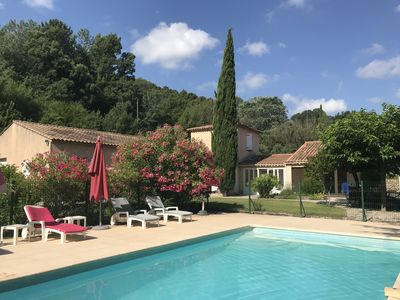Photo for Provencal farmhouse on the heights of Salernes
