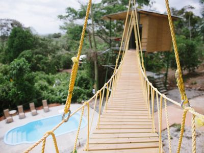 Photo for Tarzan Honeymoon Treehouse - Enjoy sunset, A/C, Pool, Jungle-view