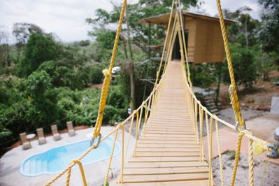 The only property we know with a suspension bridge in Costa Rica!