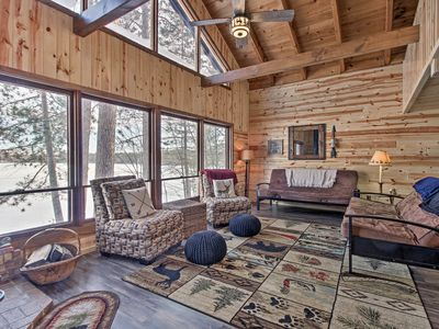 Photo for NEW! 'Loon Lake Lodge' w/ Dock, Sauna & Hot Tub!