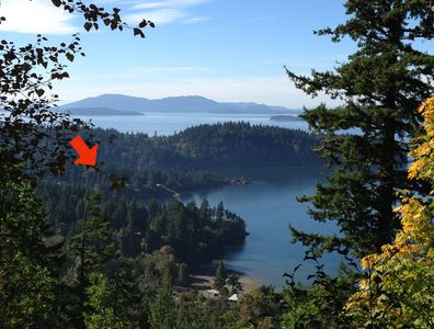 Our home is on Chuckanut Point, where the arrow is pointing!