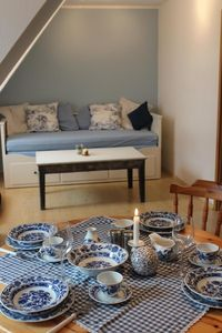 Photo for Beautiful blue-white furnished apartment for 4 persons