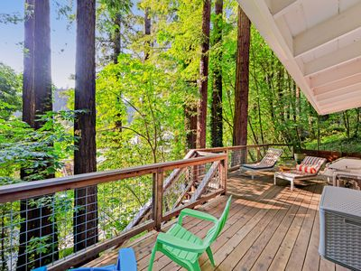 Photo for NEW LISTING! City chic in the redwoods w/ deck & Ping-Pong- near the river!