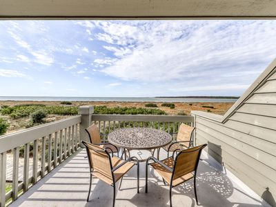 Photo for Beachfront condo w/ deck, views & shared pools, tennis, golf & more!