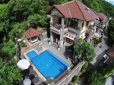 arial photo of the villa