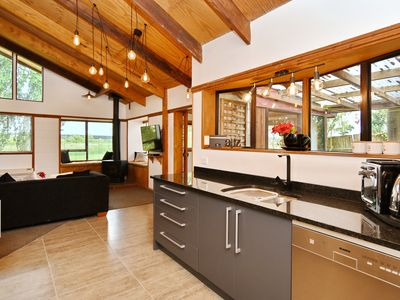 Photo for Coastal Rustic Bach with Funky Vibe Near the Beach, w/ Massive Backyard and BBQ!