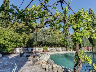 Photo for Rustic Cottage in Oppede with Shared Pool