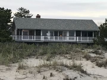 Ocean Front, wrap around deck with a private beach!