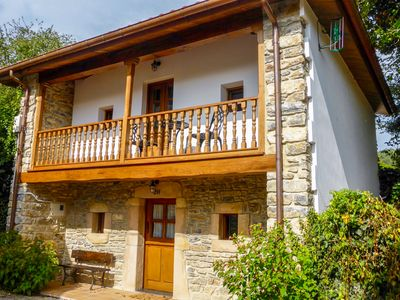 Photo for Charming stone house in an idyllic coast village close to a stunning beach