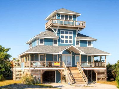 Photo for Soundfront Rodanthe-Boardwalk to Private Sandy Beach, 2 Kayaks, Hot Tub, & More