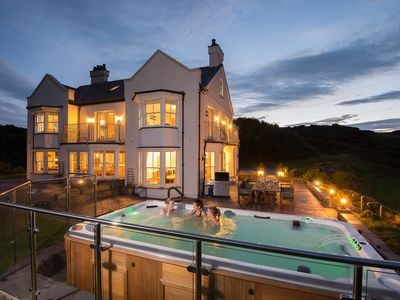 Photo for Stunning luxury country house,168 acre of coastal estate, private beach, hot tub