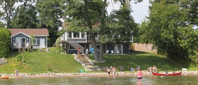 Summer paradise, Beach and water great for families.