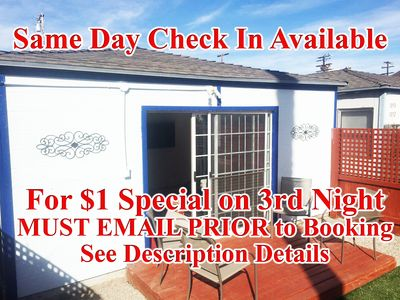 Photo for MUST READ OFFER IN DETAILS $1/nt rate on3RD night w First 2nights@ $225/nt