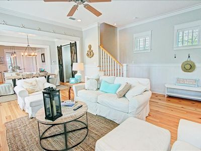 Photo for Enclosed Porch! 4 Bikes! 2 King Suites, Walk to Pool! Blessing by the Sea at Watercolor