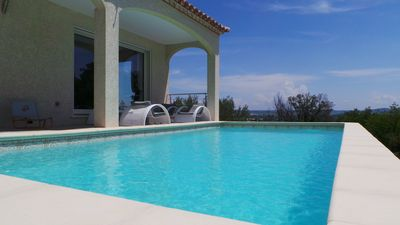 Photo for Villa with pool and panoramic views