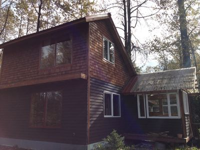 Photo for Eagle's Nest Cabin on Salmon Creek and private, large wooded lot.