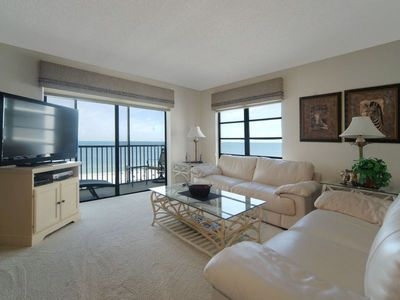 Photo for Summer Sale! 25% off! BEAUTIFUL 11TH FLOOR ISLAND WINDS UNIT OVERLOOKING THE GULF OF MEXICO! 1,428 sq ft Condo Plus 3 screened Lanais, Free WIFI, Central Air, Full Size Washer Dryer in Unit Click for reviews!