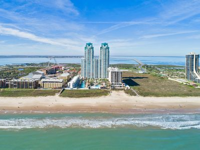 Aerial view of the oceanfront Sapphire complex!