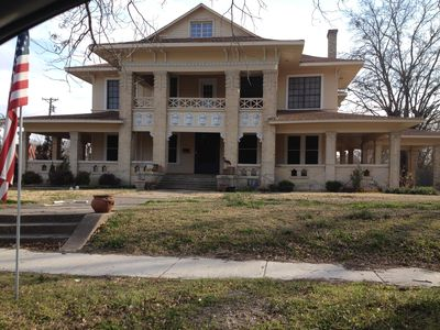 Front view of beautiful historic home