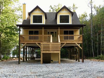 Photo for Waterfront home nestled in the wooded privacy of Dales Creek Cove on Lake James