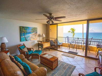 Photo for Oceanfront Sugar Beach 525 Tropical Condo, on the Beach,