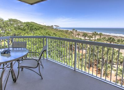 Balcony with Ocean View at 412 Barrington Court