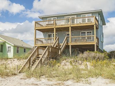 Photo for The Bessie-B: 4 Bed/3 Bath Oceanfront Home with Covered Porch and Picnic Table