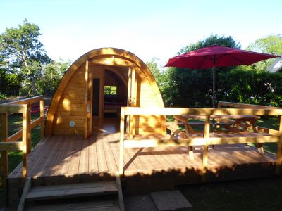 Photo for NEW, MEGAPOD log cabin comfort