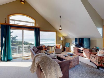Photo for Dog-friendly oceanfront home w/hot tub, amazing views & easy beach/trail access!