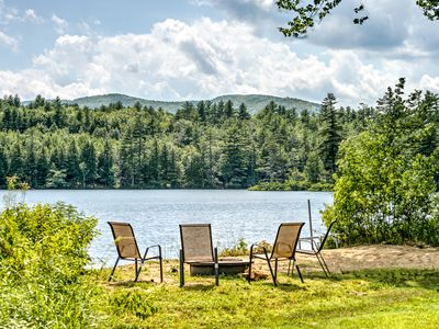 Photo for Beautiful, secluded house located on water overlooking ski mountain
