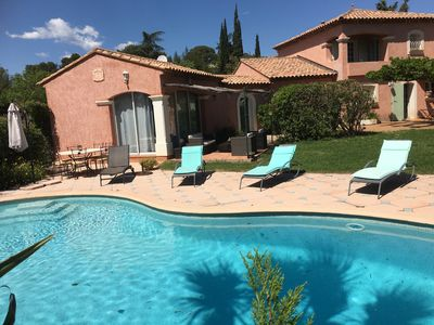 Photo for MAS PROVENCAL - 4 rooms + CLIM Mezzanine 82 m², Swimming pool, Beach 12 mins, 9 people