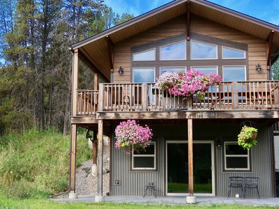 Photo for Spectacular mountain views 1 mile from Glacier National Park, sleeps 6
