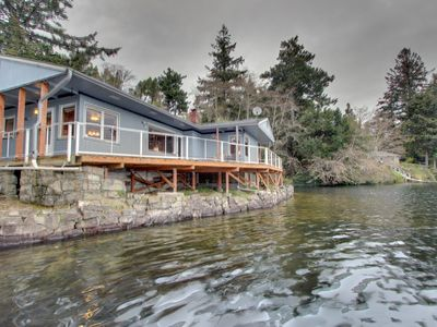 Photo for Lakefront, dog-friendly home with private dock and deck!
