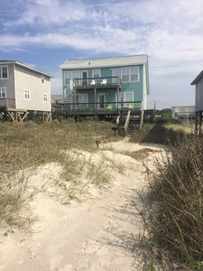 View from beach access directly in front of house.